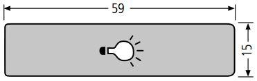 RENZ Lira Kunststoff-Lichttasterabdeckung